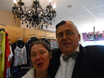 Likewise Sue from Distinctively Designed Ladies and Children's Wear (Stuart Bateman's favourite shop) was thankful or the raising of GTFC profile.